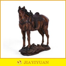 New fashion Resin Antique Animal Horse/Fake Wooden Horse Sculpture for home decoration