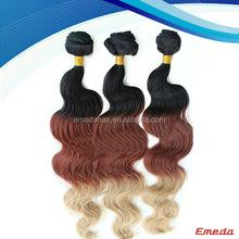 Premium Unprocessed 100% Natural Wholesale Cheap short Brazilian Hair Ombre Weave