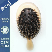 Free Shipping Boar Bristle Wooden Handle Hair Brush Varnish Color For Human Hair Extension