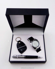 wholesale cheap keychain watch pen gift set
