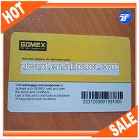 barcode key tag plastic card
