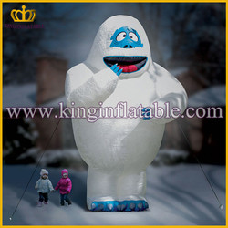 White giant inflatable bumble snow monster character,inflatable animal cartoon