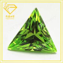 Reasonable Price Machine Cut Apple Green AAAA Triangle Cubic Zirconia