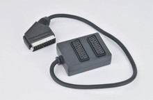 factory direct sell high quality over molded 21P male to male scart cable, mini scart