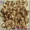 Alibaba Golden Supplier Remy Unprocessed No shedding no tangle blond remy quad weft clip hair extension