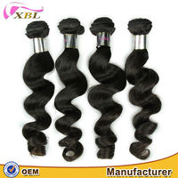 28 inch hair extensions no tangle and shedding loose wave 7a unprocessed virgin Indian hair weaving