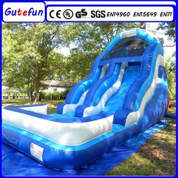 new design water park theme factory sale outdoor single slide inflatable for kids