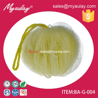 2015 china wholesale funny baby bath and shower pumpkin mesh sponge for walmart audit BA-G-004
