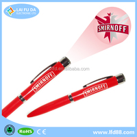 LED Projector pen with OEM LOGO for christmas gifts,led metal ballpen with projector ,custom logo led pen for 2016