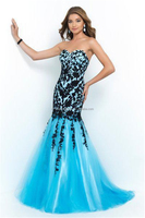 Fashion Sweetheart Lace Appliques Evening dresses Modern TrumpetMermaid Type ladies long evening party wear gown FXL-921