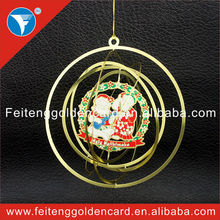 High Standard Twinkle Laser Out Gold 3D Metal Christmas Ornament from Christmas Supplies