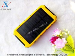 8000mAh portable solar power bank usb charger