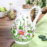 New Bone China Elegant Flower Design Ceramic Hot and Cold Water Jug