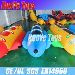 inflatable water flying fish for sale , banana boats,aquak park for water games
