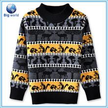 BIG WORLD Vogue Fashion Men Classical Stripe Cardigan Sweater Winter Long Sleeve Men Wholesale Cheap Wool Sweater