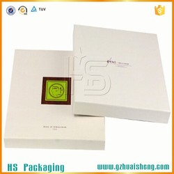 matt white color paper packaging cardboard gift box for bath towel