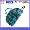 fashion printed travel bag on wheels waterproof ladies travel bag on wheels
