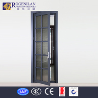 Rogenilan commercial double glass aluminum entry door antique tibetan door