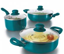 ceramic coating fry pan & pot set