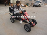 Two seater pedal go kart for adult kid