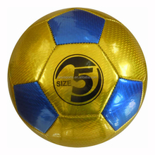 promotion/low price/high quality / Metallic Laser PVC soccer ball