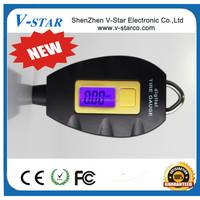 Portable Mini Keychain LCD Tire Wheel Digital Car Tyre Air tire Pressure Gauge,wireless tire pressure monitoring system