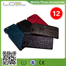 Crocodile Grain genuine Leather Case for iPhone 6S Mobile Phone Accessory BO-CPI6018(3)