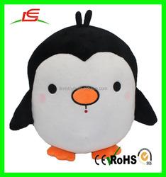 Stuffed black and white plush penguin plush round penguin toy cute soft penguin for sale