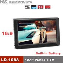 10 inch portable cctv monitor tester built-in battery, as a pc monitor, USB SD PMP, HD MI monitor, portable mini tv, Model:1088