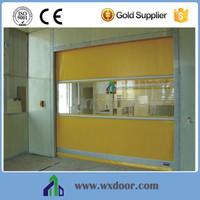 Plastic screen fast folding door, high speed screen door