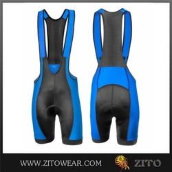 Breathable Quick Dry lycra fabrics for cycling bib short with Coolmax Pads