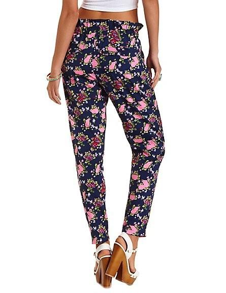 Elegant Dorothy Perkins Black And Orange Floral Jogger Online Shopping Women