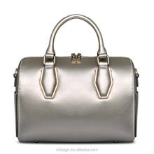 Female Handbag Dropshipping Shenzhen Handbags Manufacturer Wholesale Multi Color Ladies Genuine Leather Boston Handbag