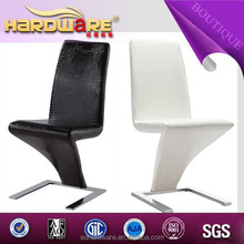 black leather z shape dining chair white z shape dining chair