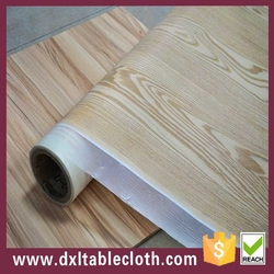 decoration self adhesive 3D effect Wood floor pvc film