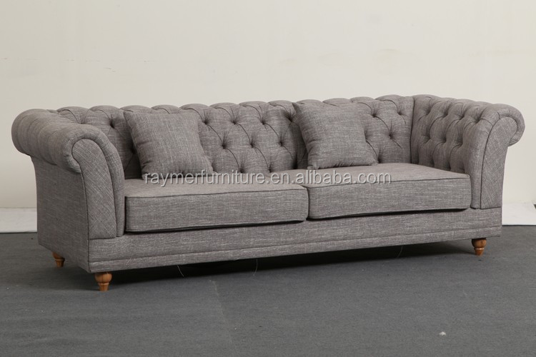 classique fran ais salon tuft lin tissu canap chesterfield canap salon id de produit. Black Bedroom Furniture Sets. Home Design Ideas