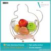 Cartoon monkey design metal fruit basket with silver liner