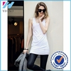 New products 2016 women long length tank top with spandex cotton