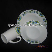 LY-S ceramic plates and cups
