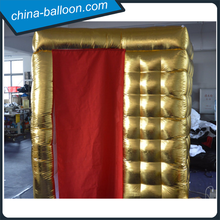 Factory price golden color inflatable cube tent/ tent inflatable for rental
