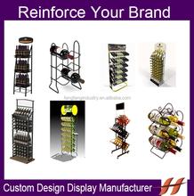 Custom Metal Wine Display Stand/ Factory Direct metal wine display racks