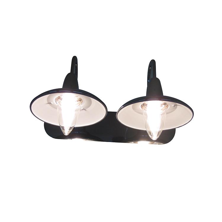 レトロ真鍮ランプホルダー半月ガラスインテリア傘形ウォールライト寝室用
