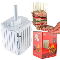new design for cutting meat kabob kebab factory supply bbq kebab machine with 36 skewers and holes kebab maker box