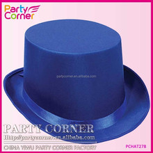 Royal Blue Crinoline Top Hat Silk With Band