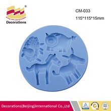 Animal silicone fondant mold for chocolate candy soap clay resin craft sheep pig horse donkey