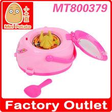 elétrico mini panela de arroz com alimentos em miniatura brinquedos da cozinha