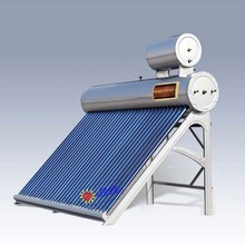 Solar water heater with cooper coil and feeding tank