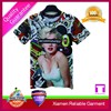 Fashion design sublimation printing custom made men 3D t shirt wholesale