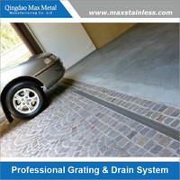 Stainless steel garage floor grate