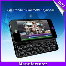 Mobile phone keyboard For iPhone 6 Mini Bluetooth Keyboard for new iphone bluetooth slide keyboard